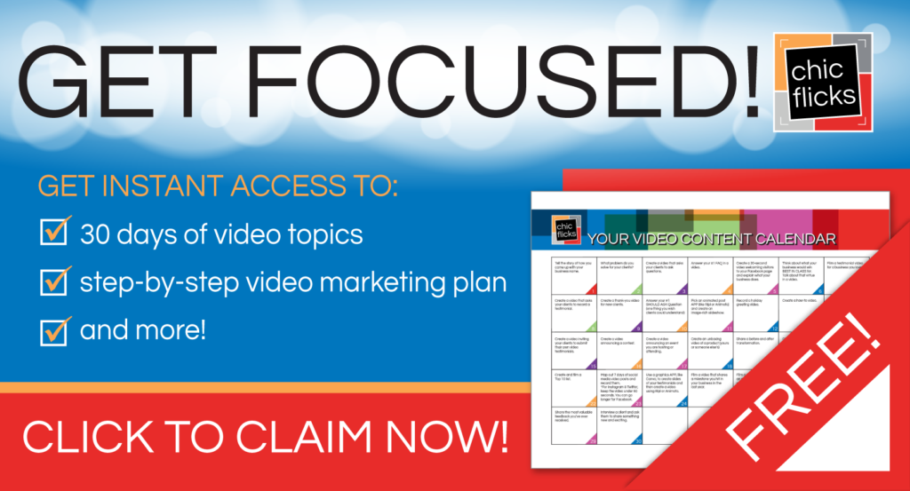 Get Focussed Video Calendar