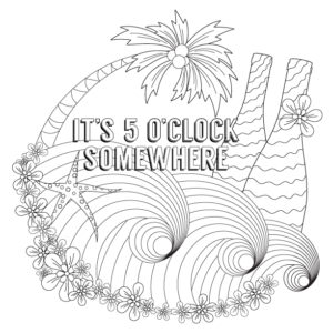 5oclock-somewhere-wine-colouring-page