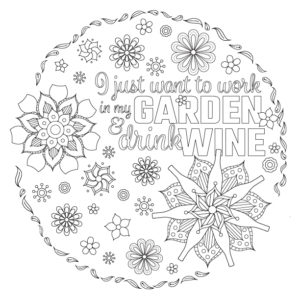 Gardening-and-Wine-colouring-page