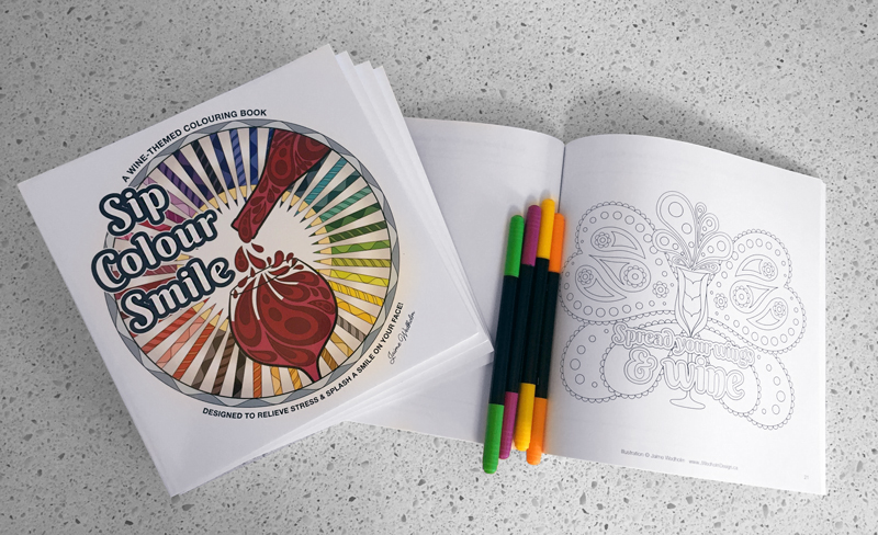 Sip Colour Smile Colouring Book