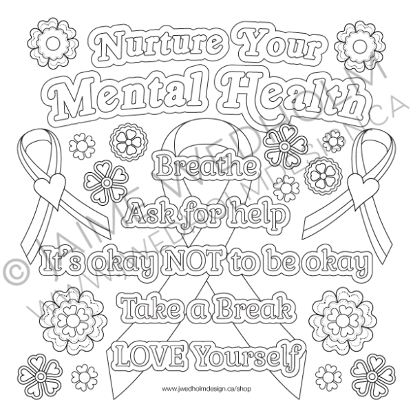 Nurture-Your-Mental-Health-Colouring-Page
