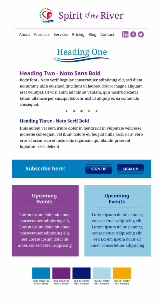 Sample website style guide
