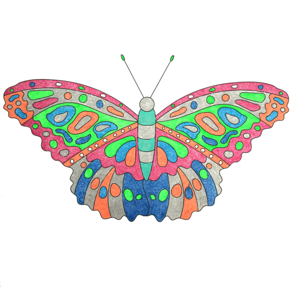 Happy-Butterfly-Colouring-Page-by-Jaime-Wedholm